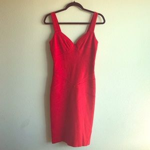 Super Sale!Diane Von Furstenberg Red Midi Dress!😍